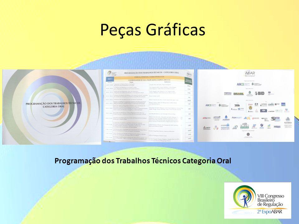 Peças Gráficas Programação dos Trabalhos Técnicos Categoria Oral