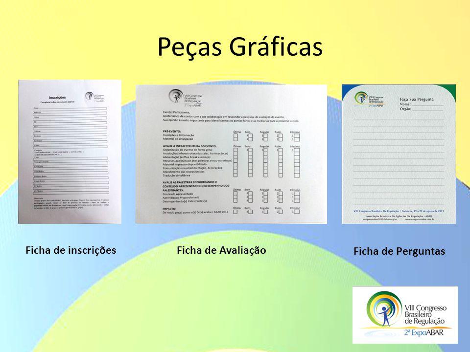 Peças Gráficas Ficha de inscriçõesFicha de Avaliação Ficha de Perguntas