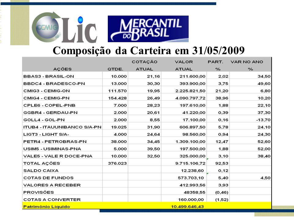 Composição da Carteira em 31/05/2009
