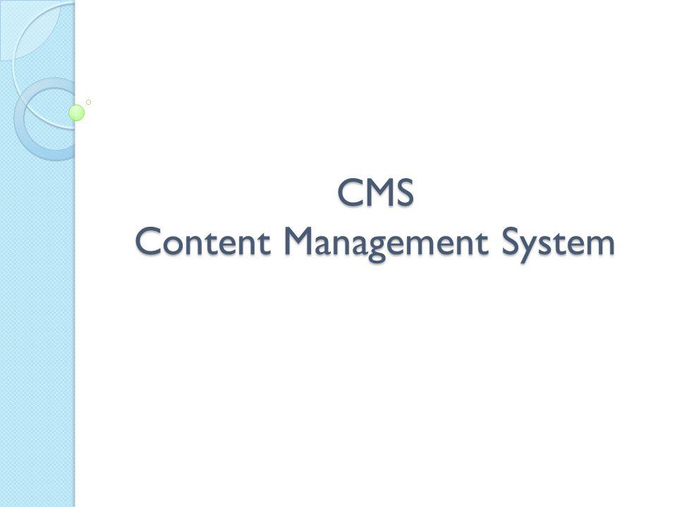 O que é um CMS.