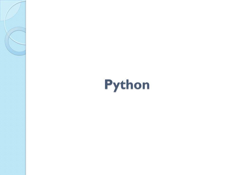 Linguagem de programação de alto nível Interpretada Interativa Orientada a Objetos Tipagem dinâmica e forte Portável Multiparadigma O que é Python.