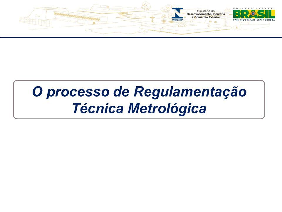 O processo de Regulamentação Técnica Metrológica
