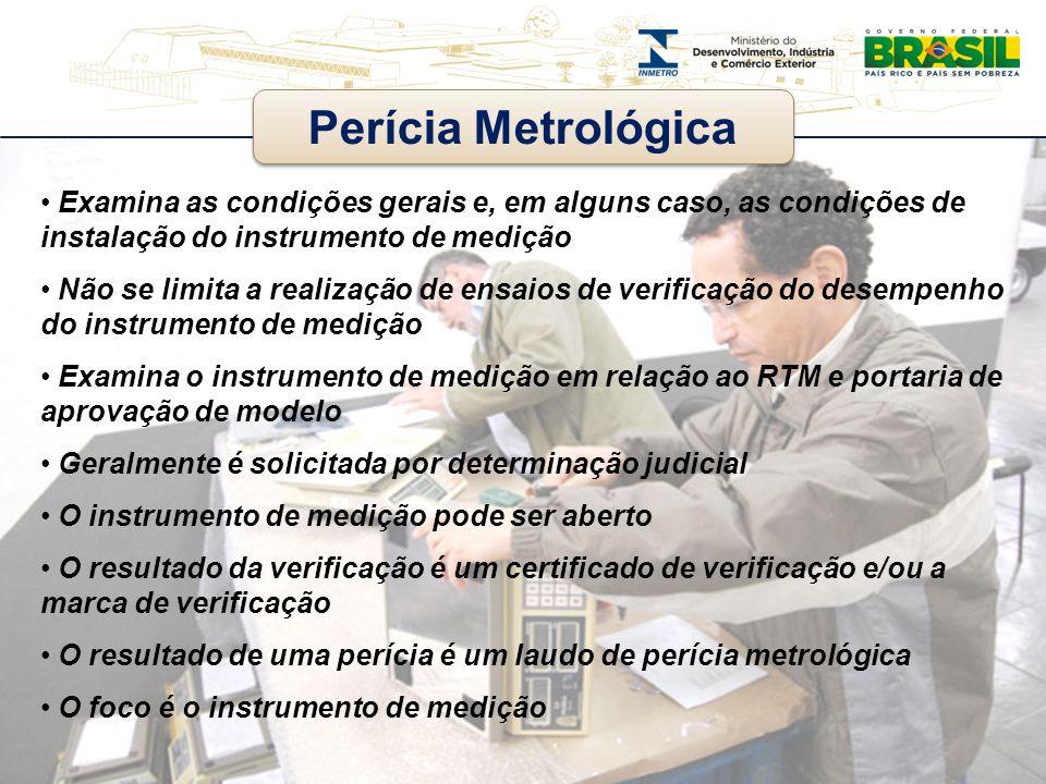 Examina as condições gerais e, em alguns caso, as condições de instalação do instrumento de medição Não se limita a realização de ensaios de verificaç