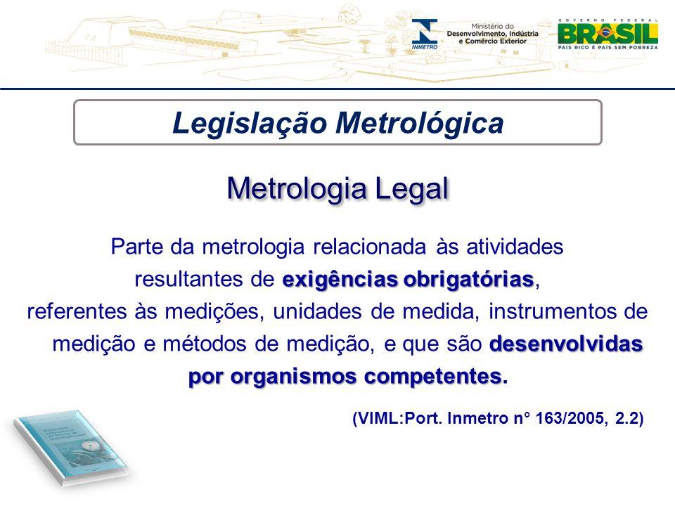 Legislação Metrológica Metrologia Legal Parte da metrologia relacionada às atividades exigências obrigatórias resultantes de exigências obrigatórias,