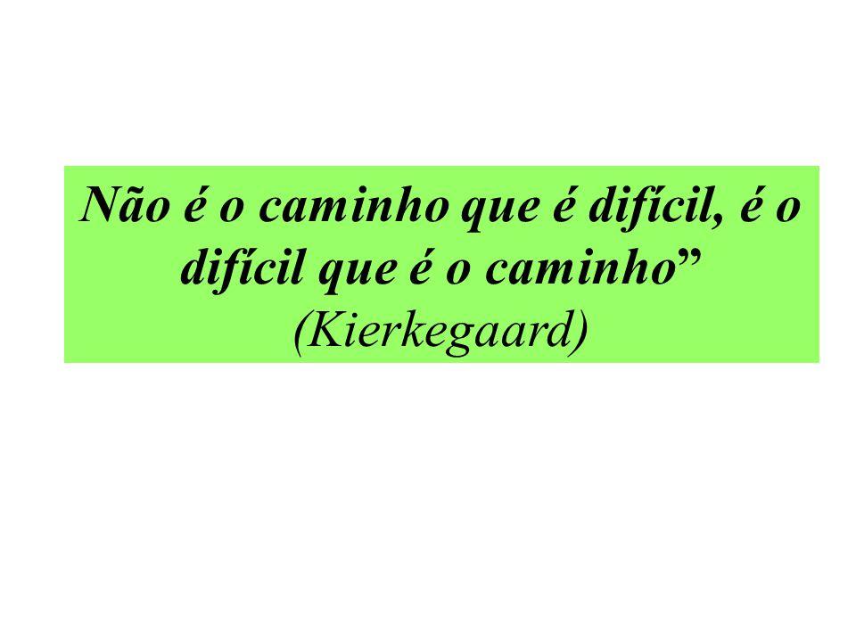 Não é o caminho que é difícil, é o difícil que é o caminho (Kierkegaard)