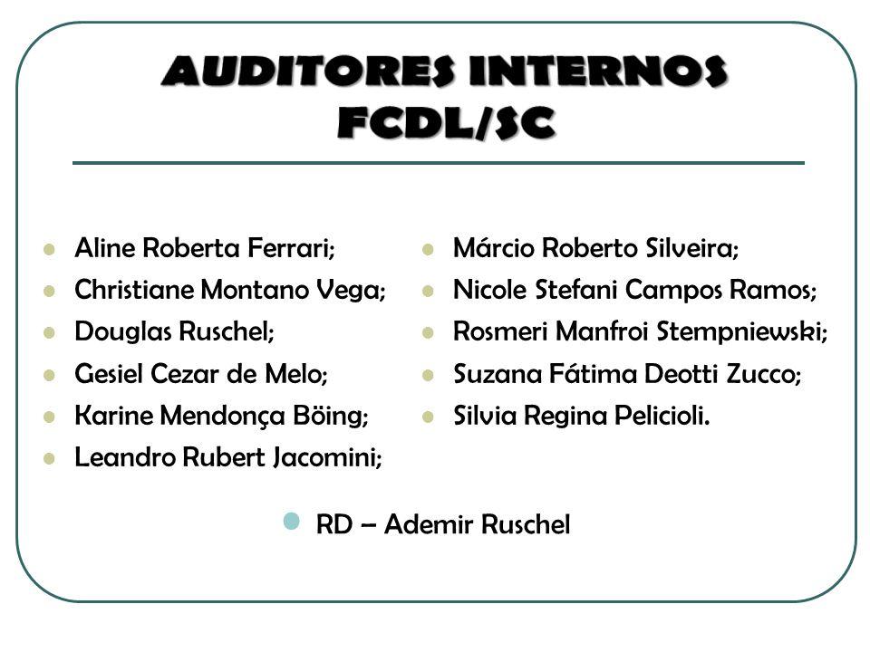 Aline Roberta Ferrari; Christiane Montano Vega; Douglas Ruschel; Gesiel Cezar de Melo; Karine Mendonça Böing; Leandro Rubert Jacomini; Márcio Roberto