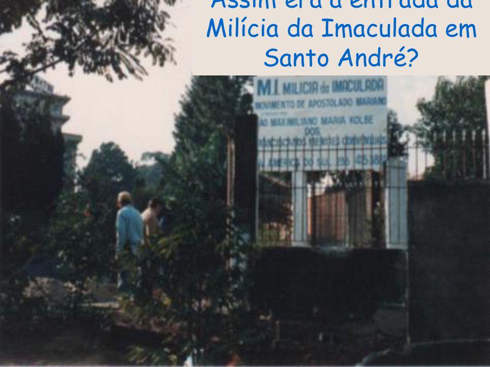 em 1985 o Frei Sebastião já editava um folheto e depois uma revista baseada no movimento da Milícia da Imaculada?