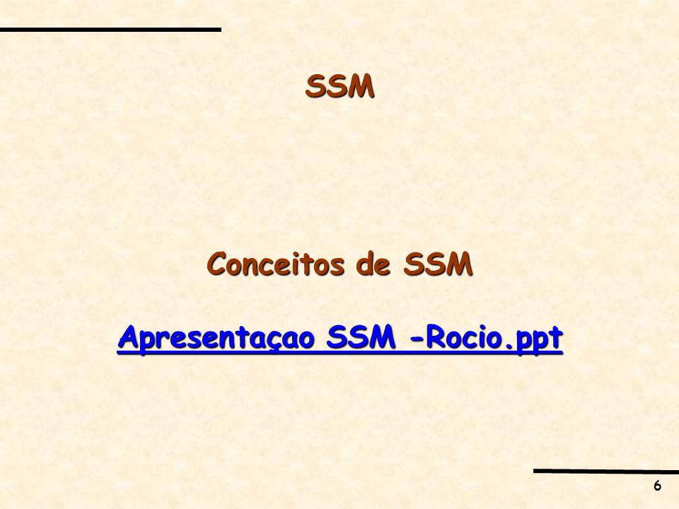 6 SSM Conceitos de SSM Apresentaçao SSM -Rocio.ppt Apresentaçao SSM -Rocio.ppt