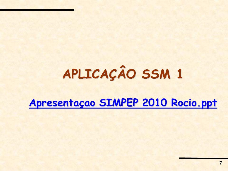 7 APLICAÇÂO SSM 1 Apresentaçao SIMPEP 2010 Rocio.ppt Apresentaçao SIMPEP 2010 Rocio.ppt