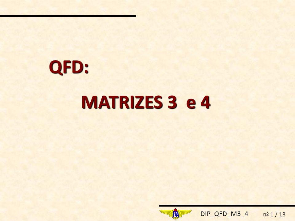 DIP_QFD_M3_4 n o 1 / 13 QFD: MATRIZES 3 e 4