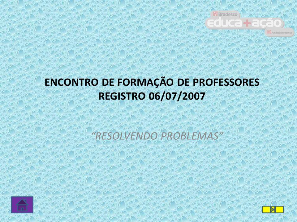 ALGUNS REGISTROS DE RESOLUÇÃO DE PROBLEMAS