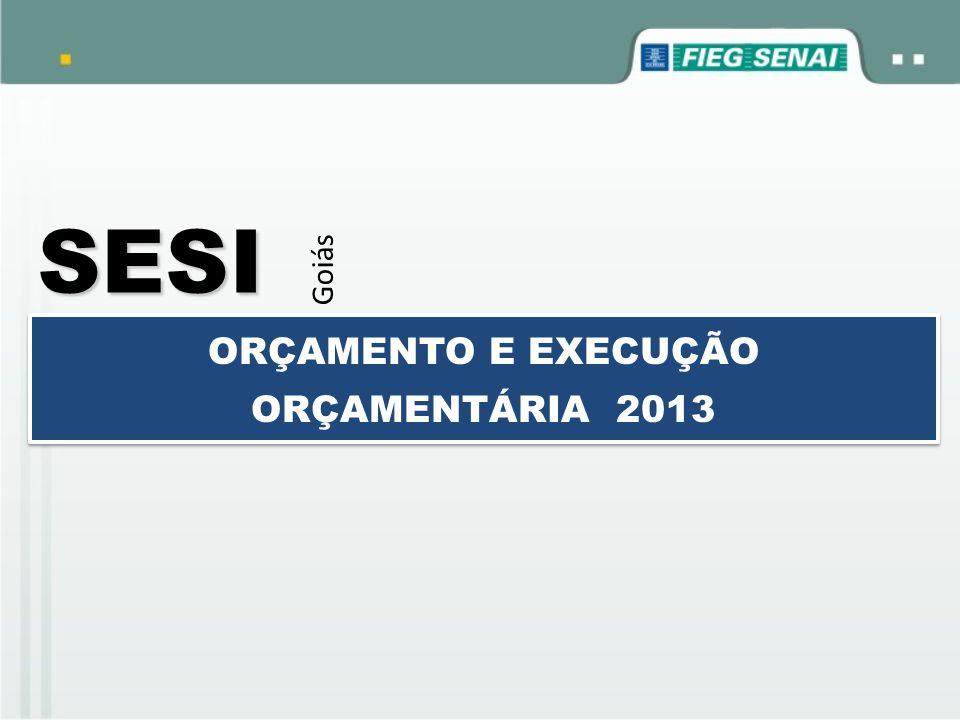 SESI Goiás ORÇAMENTO E EXECUÇÃO ORÇAMENTÁRIA 2013