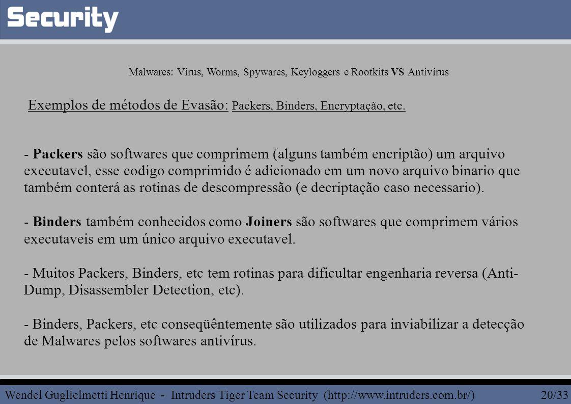 - Packers são softwares que comprimem (alguns também encriptão) um arquivo executavel, esse codigo comprimido é adicionado em um novo arquivo binario que também conterá as rotinas de descompressão (e decriptação caso necessario).