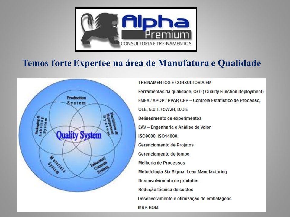 Alpha Premium Consultoria e Treinamentos / Professor Ari Temos forte Expertee na área de Manufatura e Qualidade