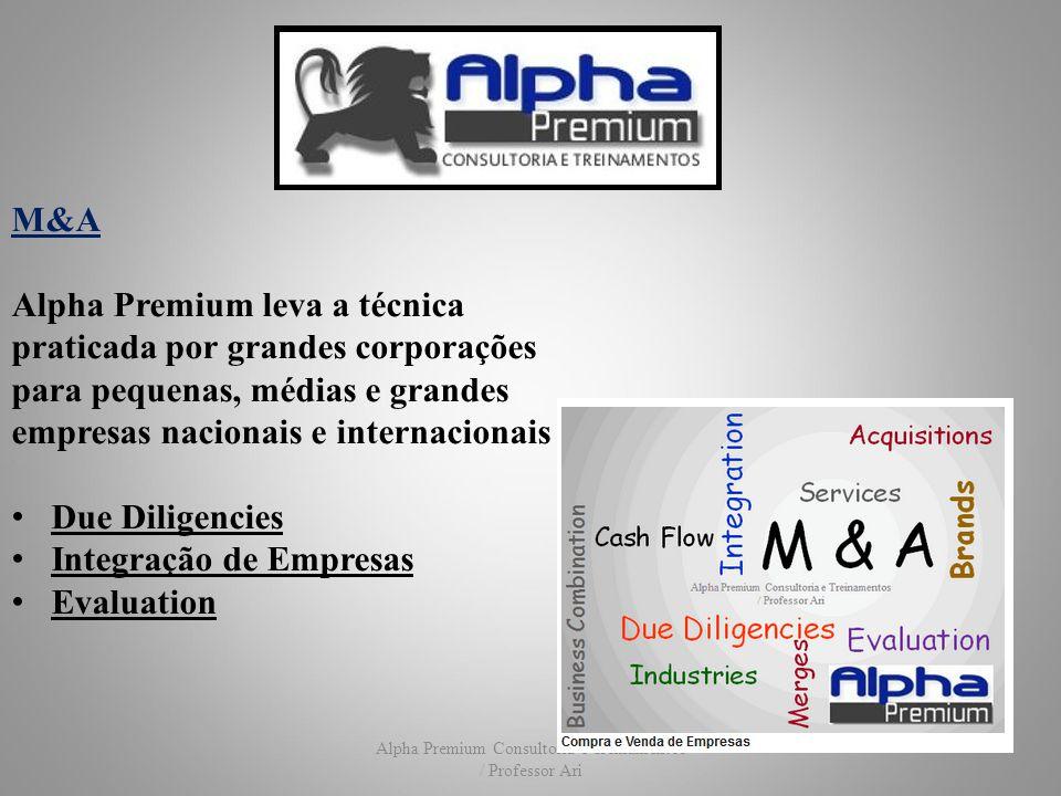 Alpha Premium Consultoria e Treinamentos / Professor Ari M&A Alpha Premium leva a técnica praticada por grandes corporações para pequenas, médias e gr