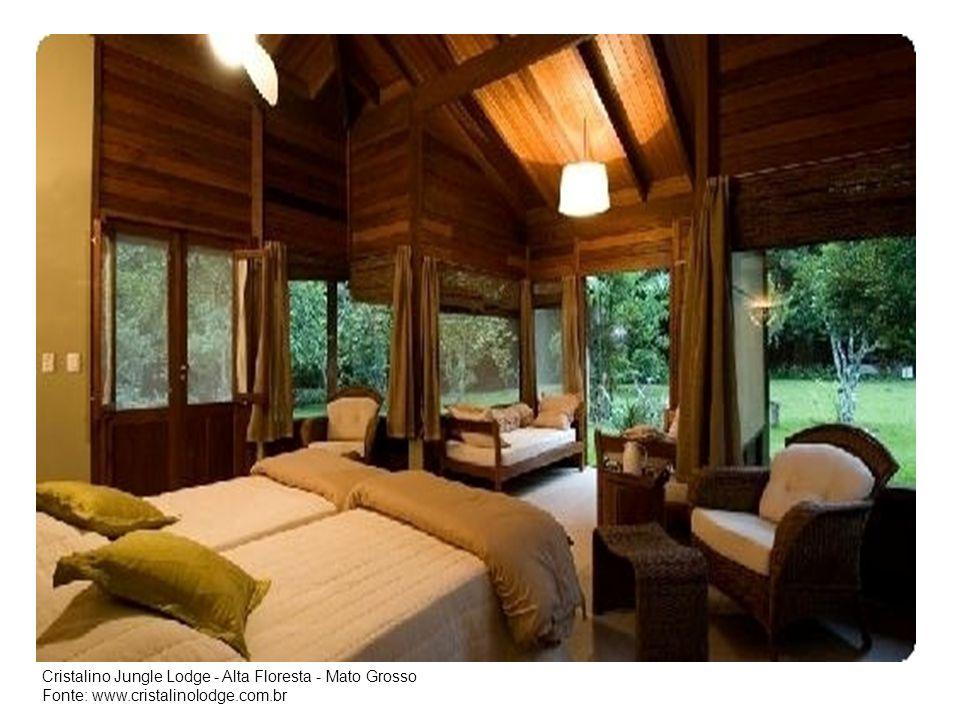 Cristalino Jungle Lodge - Alta Floresta - Mato Grosso Fonte: www.cristalinolodge.com.br