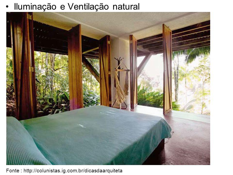 Iluminação e Ventilação natural Fonte : http://colunistas.ig.com.br/dicasdaarquiteta
