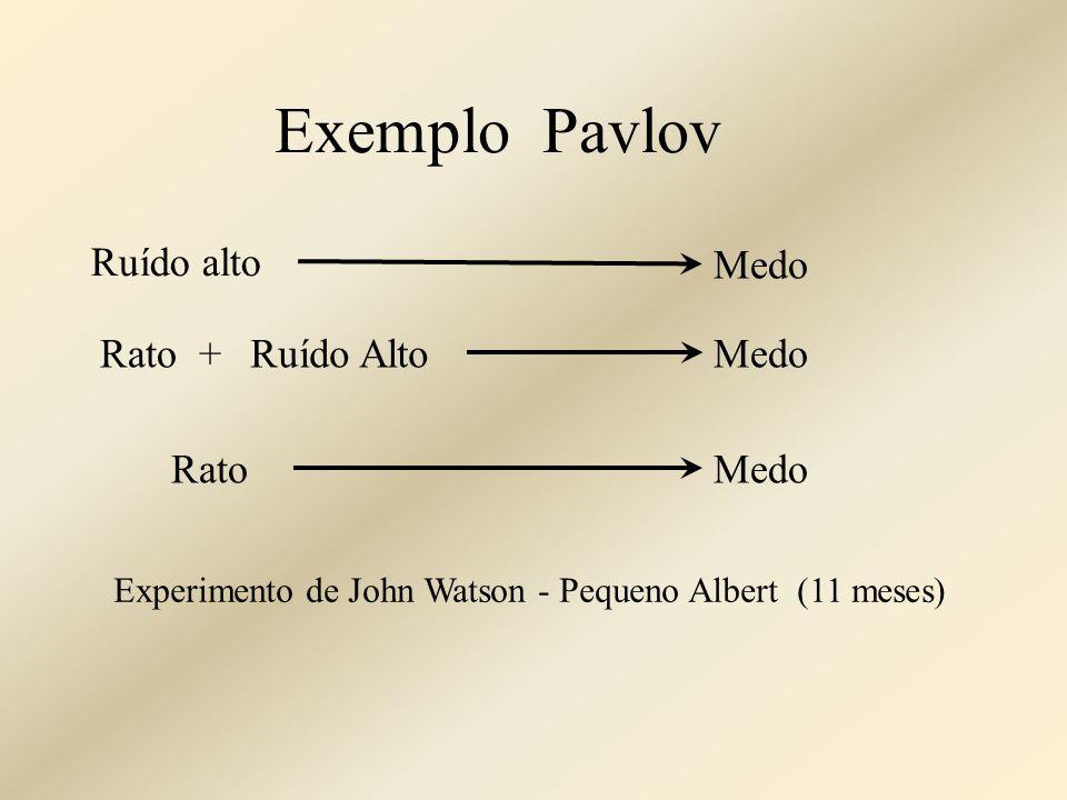 Ruído alto Medo Rato +MedoRuído Alto RatoMedo Exemplo Pavlov Experimento de John Watson - Pequeno Albert (11 meses)
