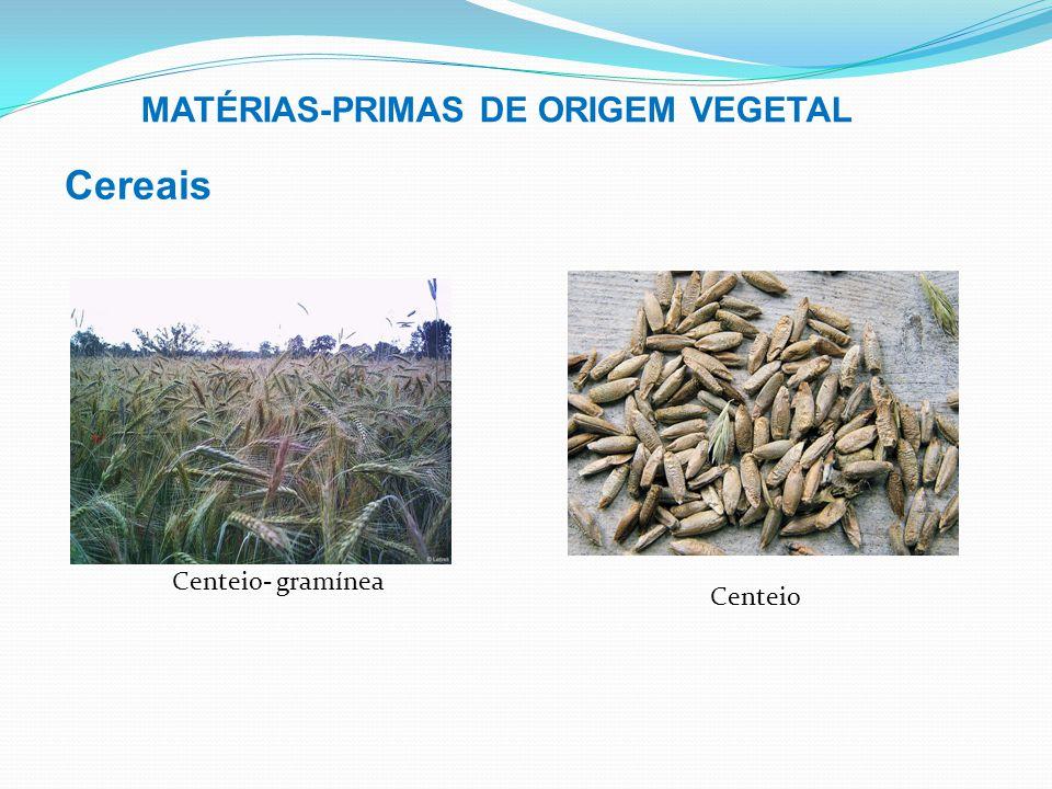 MATÉRIAS-PRIMAS DE ORIGEM VEGETAL Cereais Soja