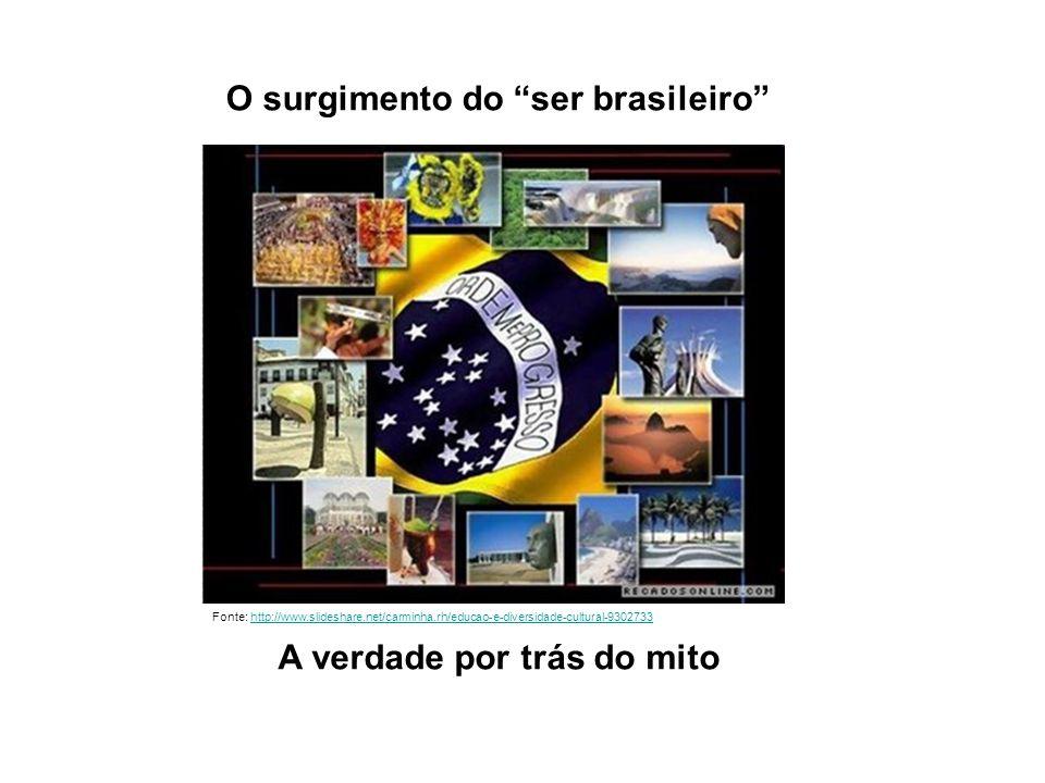 O surgimento do ser brasileiro A verdade por trás do mito Fonte: http://www.slideshare.net/carminha.rh/educao-e-diversidade-cultural-9302733http://www.slideshare.net/carminha.rh/educao-e-diversidade-cultural-9302733
