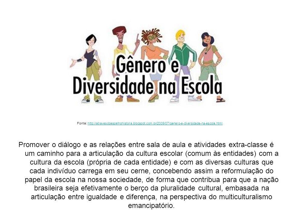 Promover o diálogo e as relações entre sala de aula e atividades extra-classe é um caminho para a articulação da cultura escolar (comum às entidades) com a cultura da escola (própria de cada entidade) e com as diversas culturas que cada indivíduo carrega em seu cerne, concebendo assim a reformulação do papel da escola na nossa sociedade, de forma que contribua para que a nação brasileira seja efetivamente o berço da pluralidade cultural, embasada na articulação entre igualdade e diferença, na perspectiva do multiculturalismo emancipatório.