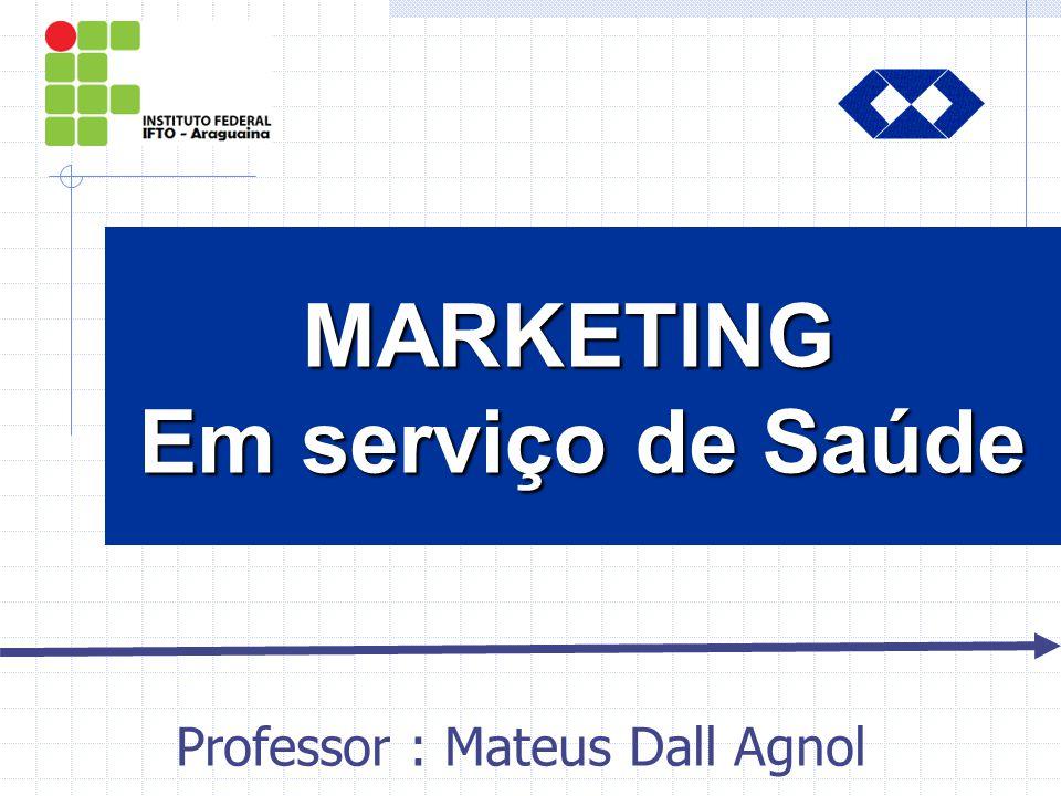 INTRODUÇÃO INTRODUÇÃO AO MARKETING INTRODUÇÃOINTRODUÇÃO MARKETING Em serviço de Saúde Professor : Mateus Dall Agnol