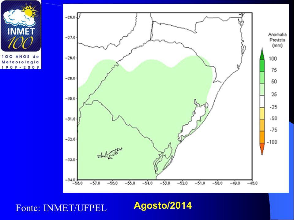 Agosto/2014 Fonte: INMET/UFPEL