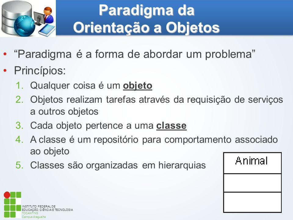 """INSTITUTO FEDERAL DE EDUCAÇÃO, CIÊNCIA E TECNOLOGIA TOCANTINS Campus Araguaína """"Paradigma é a forma de abordar um problema"""" Princípios: 1.Qualquer coi"""