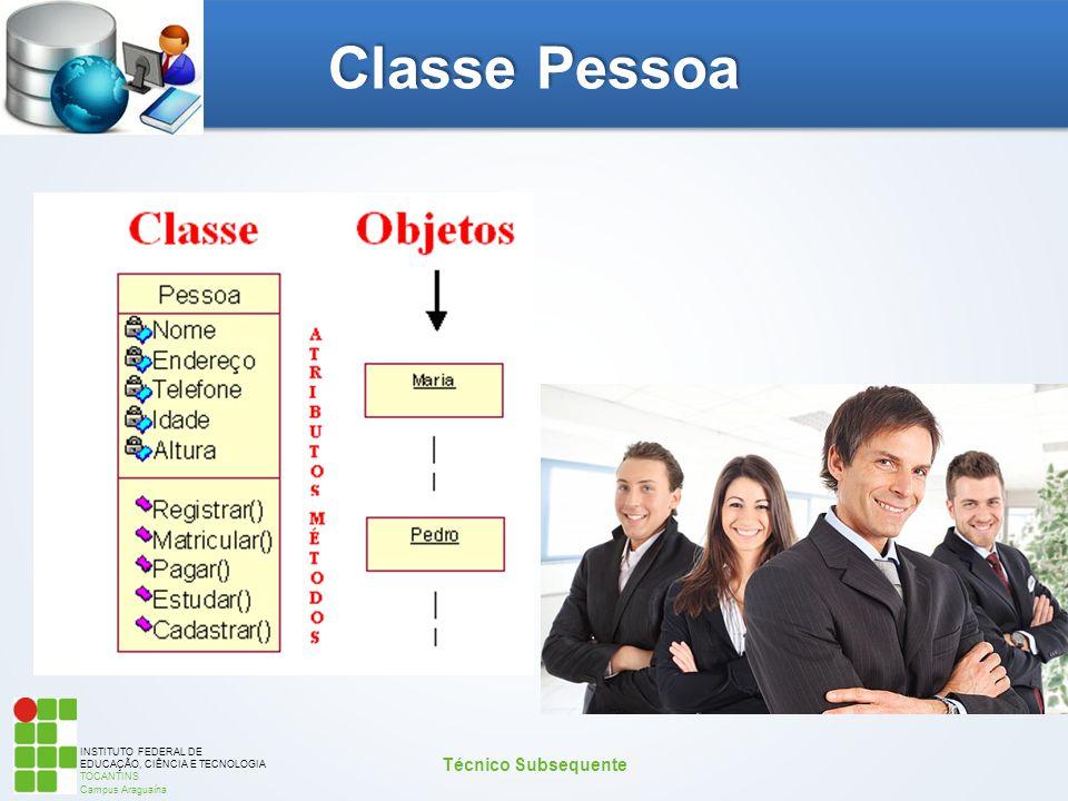 INSTITUTO FEDERAL DE EDUCAÇÃO, CIÊNCIA E TECNOLOGIA TOCANTINS Campus Araguaína Classe Pessoa Técnico Subsequente