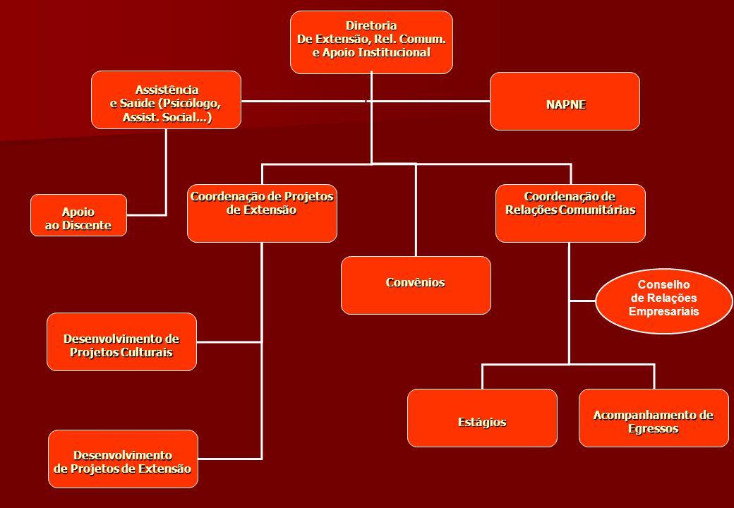 Assistência Assistência e Saúde (Psicólogo, Assist. Social...) Assist. Social...) Diretoria De Extensão, Rel. Comum. e Apoio Institucional De Extensão