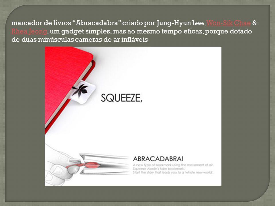 """marcador de livros """"Abracadabra"""" criado por Jung-Hyun Lee, Won-Sik Chae & Rhea Jeong, um gadget simples, mas ao mesmo tempo eficaz, porque dotado de d"""