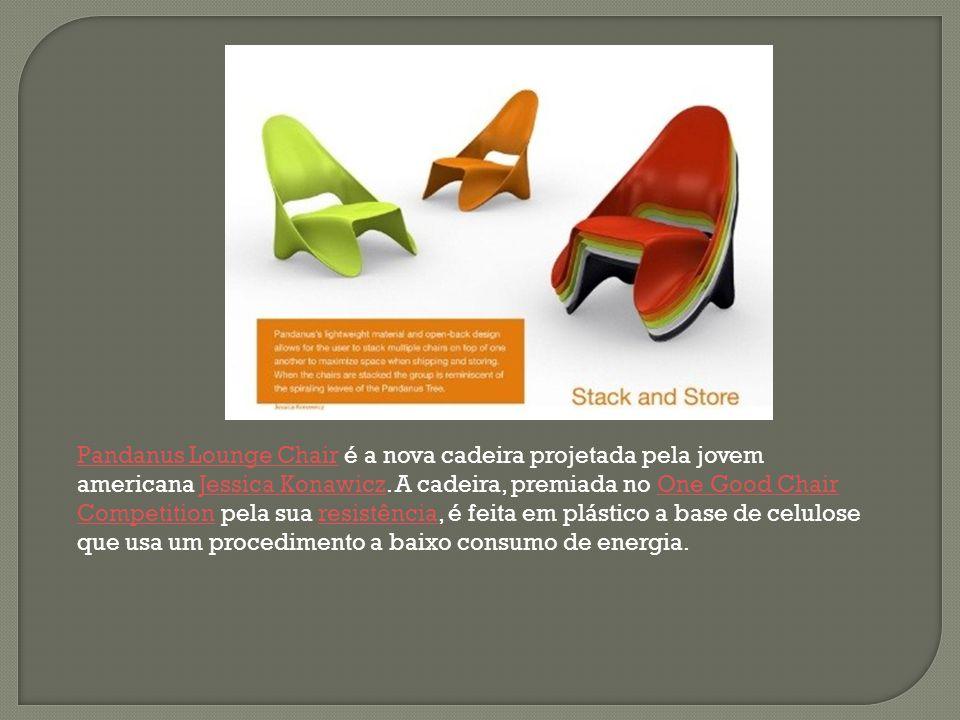 Pandanus Lounge ChairPandanus Lounge Chair é a nova cadeira projetada pela jovem americana Jessica Konawicz. A cadeira, premiada no One Good Chair Com