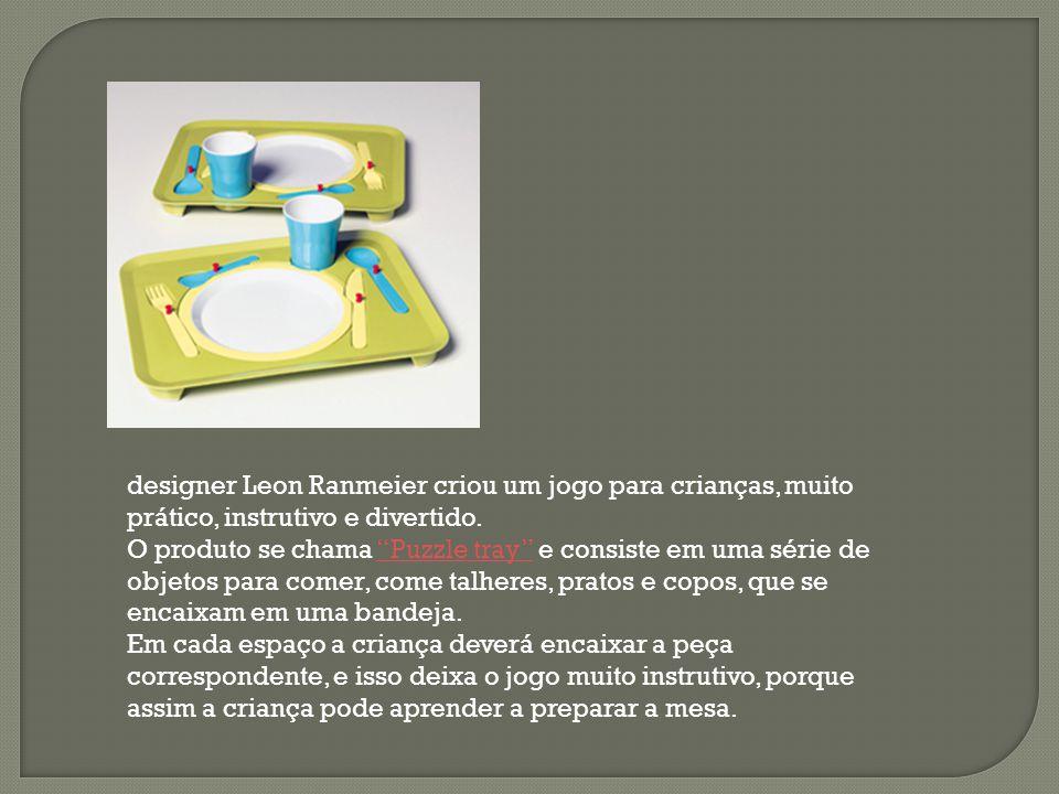 """designer Leon Ranmeier criou um jogo para crianças, muito prático, instrutivo e divertido. O produto se chama """"Puzzle tray"""" e consiste em uma série de"""