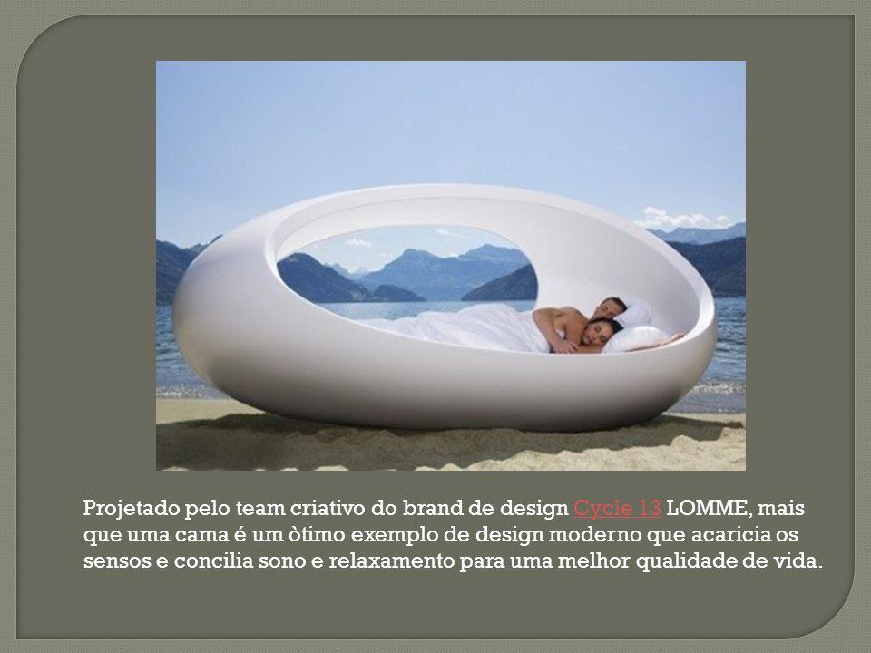 Projetado pelo team criativo do brand de design Cycle 13 LOMME, mais que uma cama é um òtimo exemplo de design moderno que acaricia os sensos e concil
