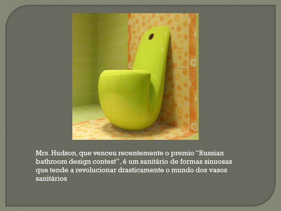 """Mrs. Hudson, que venceu recentemente o premio """"Russian bathroom design contest"""", é um sanitário de formas sinuosas que tende a revolucionar drasticame"""