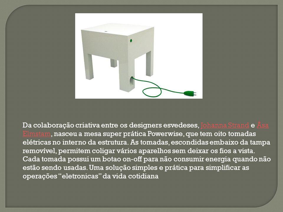Da colaboração criativa entre os designers esvedeses, Johanna Strand e Åsa Elmstam, nasceu a mesa super prática Powerwise, que tem oito tomadas elétri