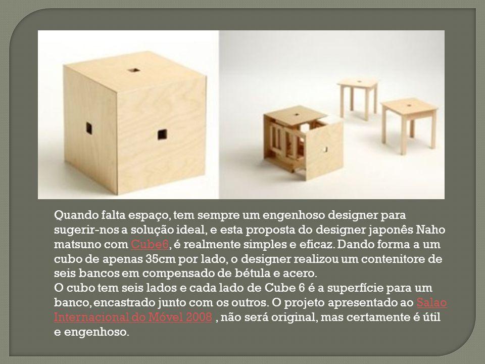 Quando falta espaço, tem sempre um engenhoso designer para sugerir-nos a solução ideal, e esta proposta do designer japonês Naho matsuno com Cube6, é