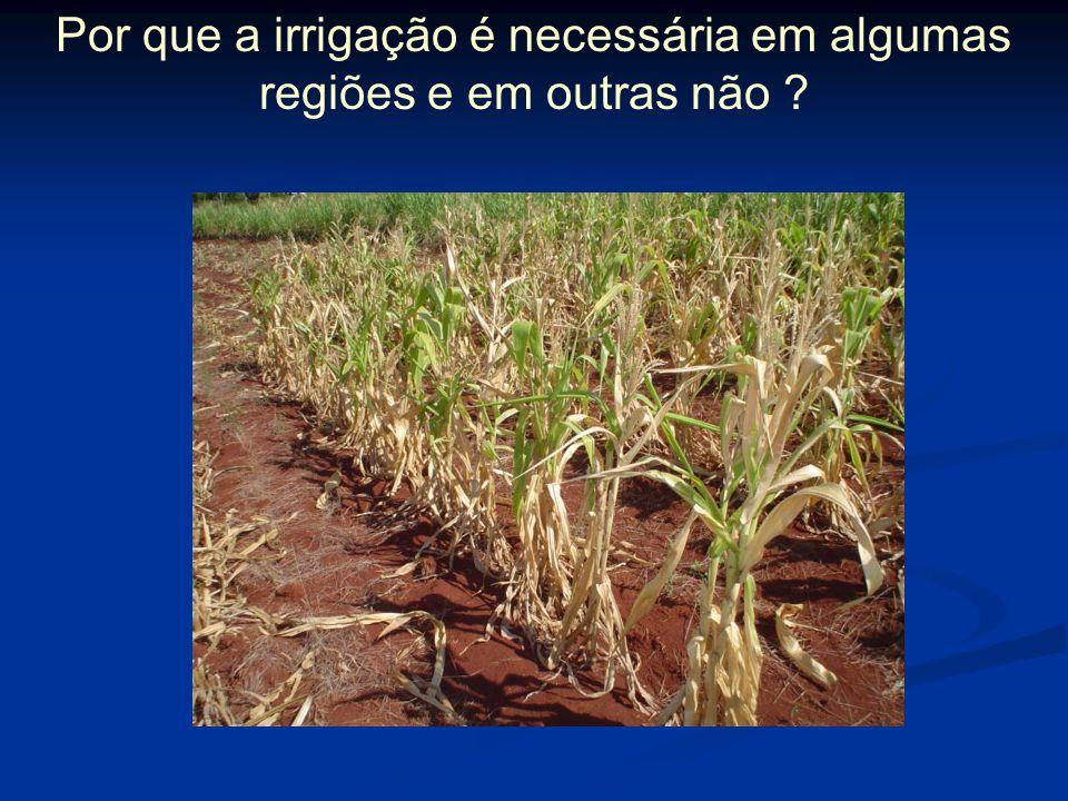 Por que a irrigação é necessária em algumas regiões e em outras não ?