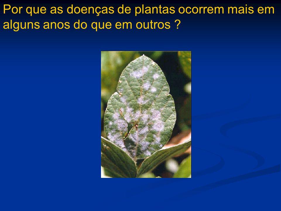 Por que as doenças de plantas ocorrem mais em alguns anos do que em outros ?