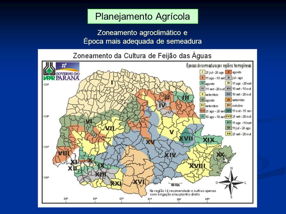 Planejamento Agrícola Zoneamento agroclimático e Época mais adequada de semeadura