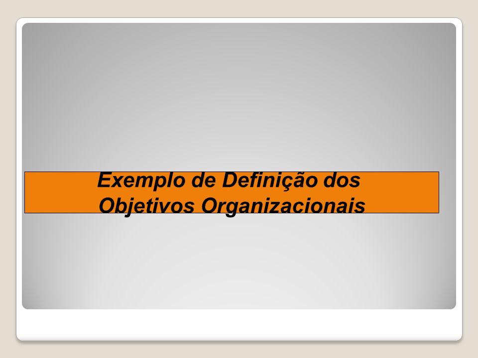 Exemplo de Definição dos Objetivos Organizacionais