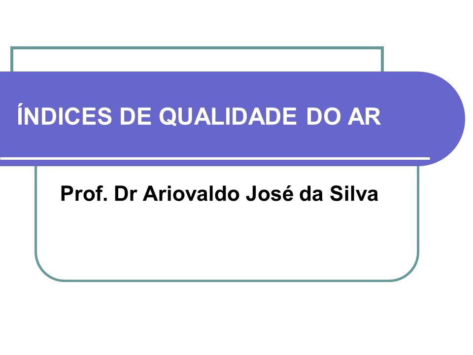 ÍNDICES DE QUALIDADE DO AR Prof. Dr Ariovaldo José da Silva