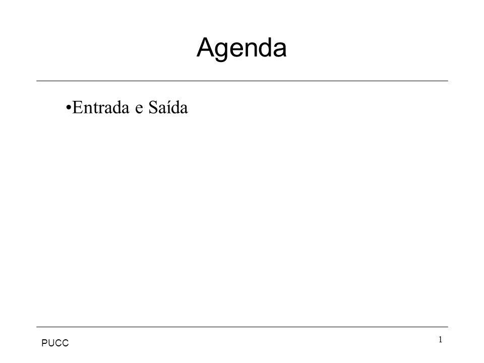 PUCC 1 Agenda Entrada e Saída