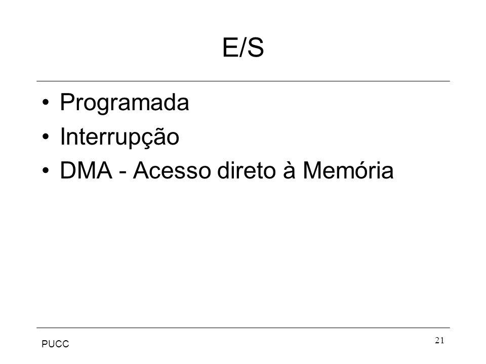 PUCC 21 E/S Programada Interrupção DMA - Acesso direto à Memória