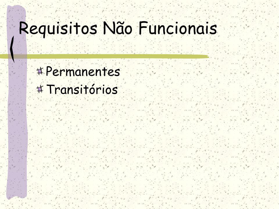 Requisitos Não Funcionais Permanentes Transitórios