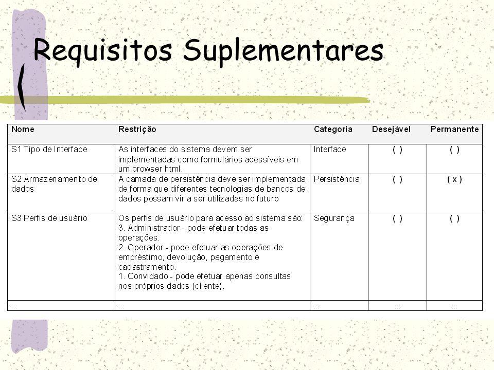 Requisitos Suplementares