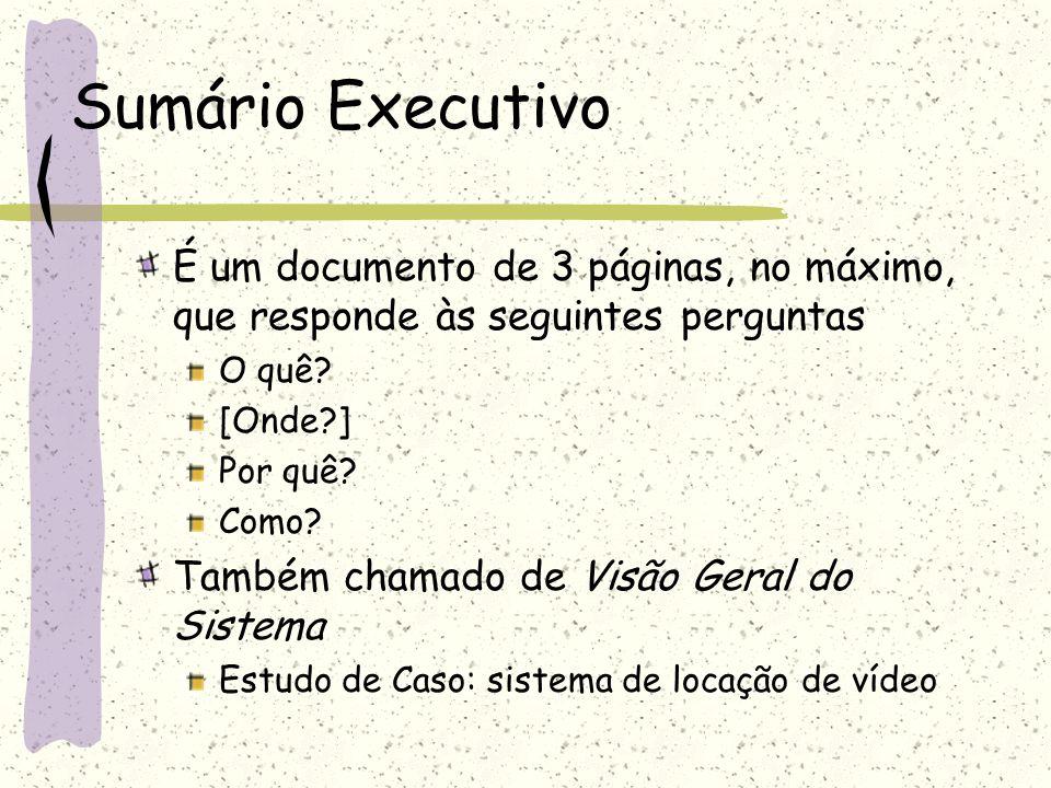 Sumário Executivo documento de texto em formato livre