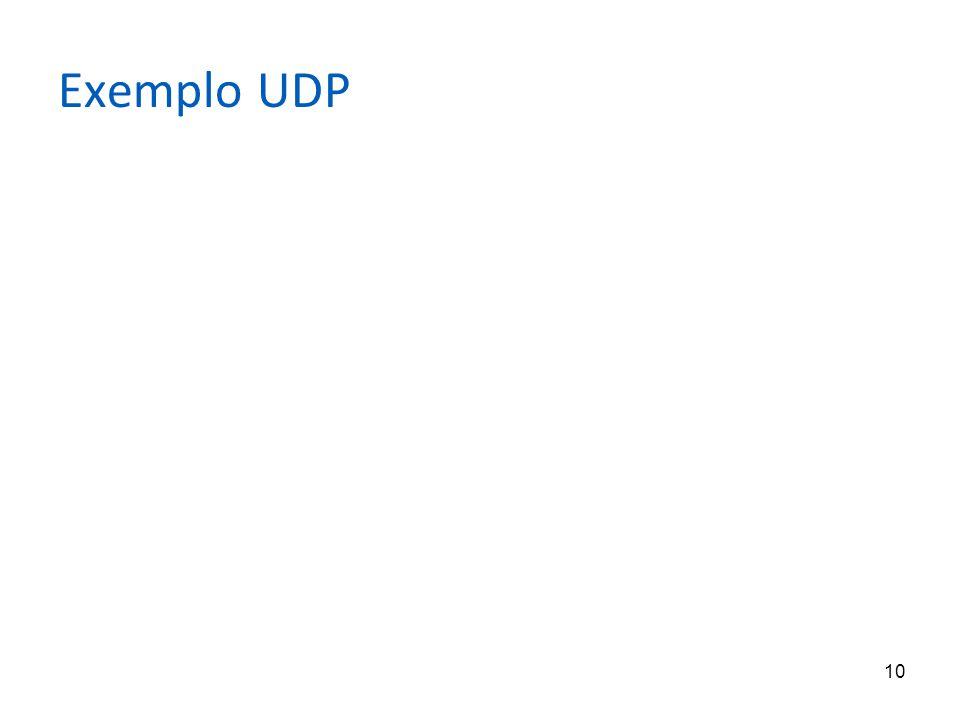 10 Exemplo UDP