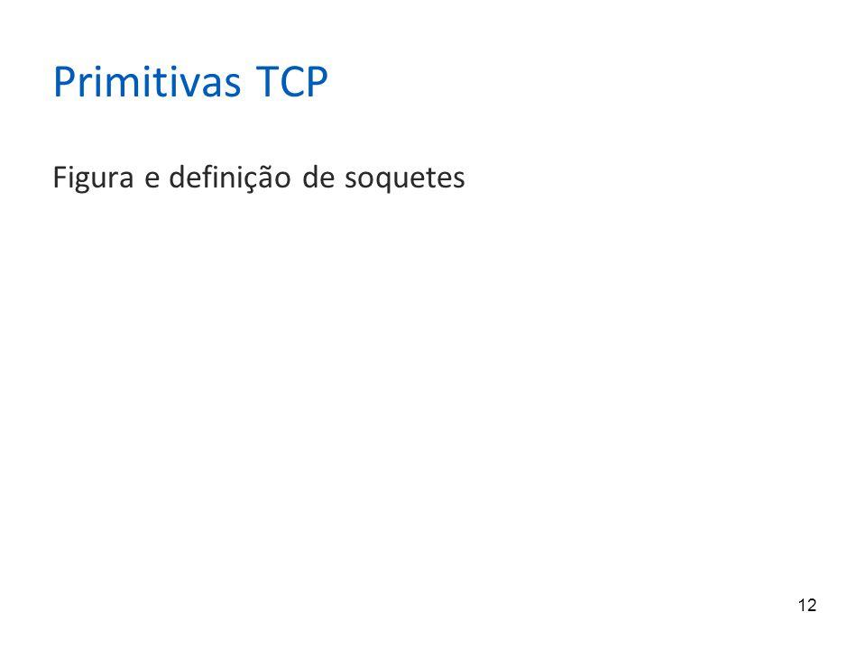 12 Primitivas TCP Figura e definição de soquetes