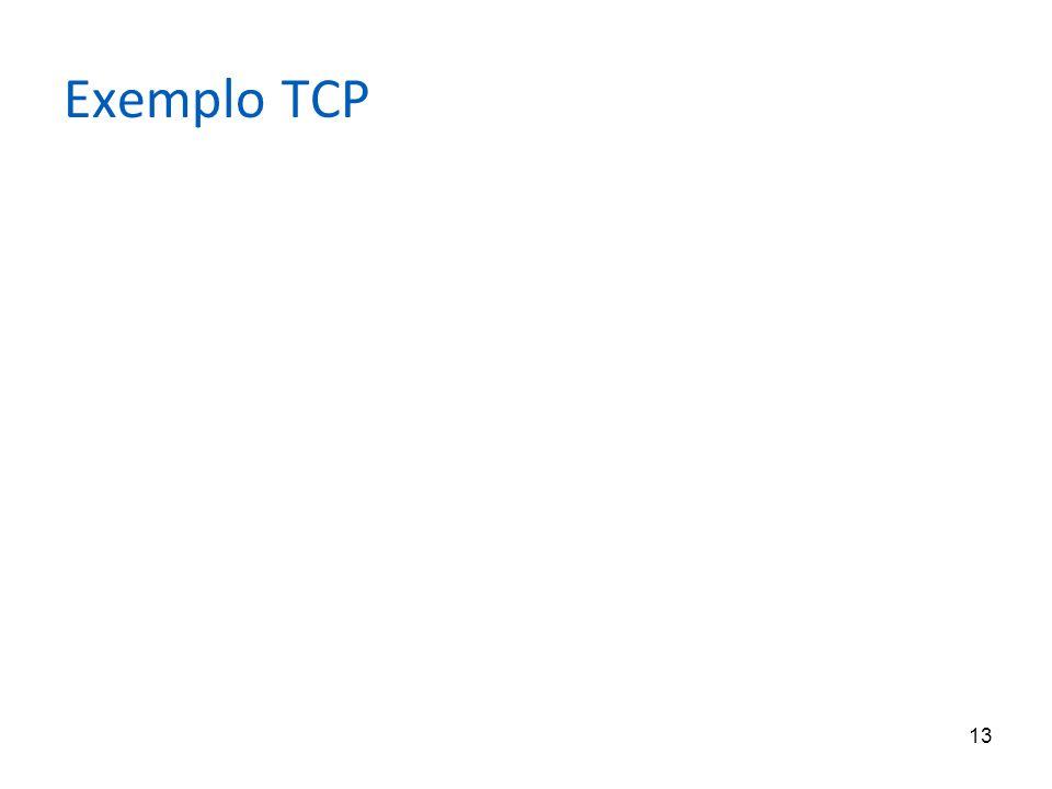 13 Exemplo TCP